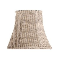 Livex Lighting S265 Bell Clip Chandelier Shade, Light Rattan by Livex Lighting