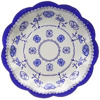 Talking Tables 12-Pack Paper Plates, 6.7-Inch, Porcelain Blue by Talking Tables