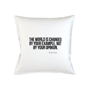 The World Is Changed By Your Example Not Opinion Paulo Coelho 引用する Sofa ベッドホームデコールクッション 枕カバー・ピローケース...