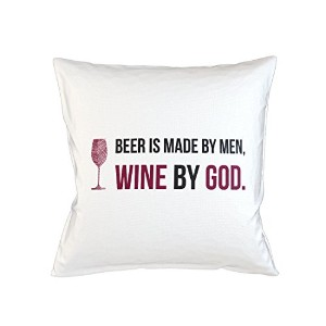 Beer Is Made By Men Wine By God Sofa ベッドホームデコールクッション 枕カバー・ピローケース 白