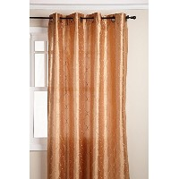 High QualityHudson 55 by 84-Inch Embroidered Faux Silk Brass Grommet Panel, Truffle