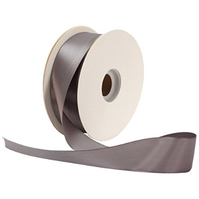 High Quality Face Satin Craft 1-1/2-Inch by 50-Yard Ribbon Spool, Pewter