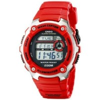 腕時計 カシオ Casio Men's WV-200A-4AVCF Wave Cepter Digital Display Quartz Red Watch [並行輸入品]