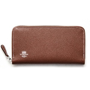Whitehouse Cox 『ホワイトハウスコックス』 正規取扱店 ジップラウンドウォレット ZIP ROUND PURSE LONDONCALF × BRIDLE S2622-BROWN/NAVY