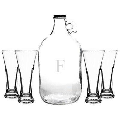 Cathy's Concepts Personalized Craft Beer Growler & Tasters Set, Letter F by Cathy's Concepts