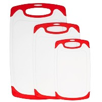 plastic cutting board, dishwasher safe 3 piece kitchen cutting boards set, large with Juice Groove...