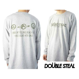 DOUBLE STEAL DOUBLESTEAL ダブルスティール PIECE SMILE 長袖Tシャツ 964-14070 ロンT 長袖 トップス ロングTシャツ メール便対応