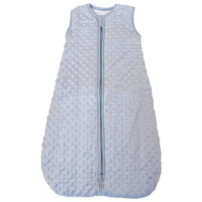 Baby Sleeping Bag Minky Dot Blue, Quilted Winter Model, 2.5 Tog (Small (3 - 11 mos)) by Baby in a...