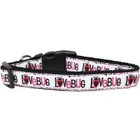 Love Bug Nylon Dog Collar Large