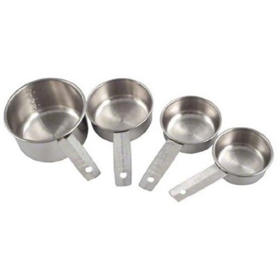American Metalcraft MCL4 Stainless Steel Measuring Cup Set with Solid Flat Handle by American...