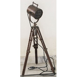 Nautical Antique Look search light with tripod stand collectable spot light Studio table lamp