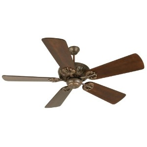 Craftmade K10904 Cordova Ceiling Fan with Premier Distressed Walnut Blades, 54, Aged Bronze...