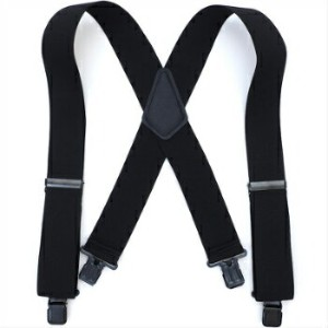 Made In USA HEAVY DUTY SUSPENDERS [BLACK]