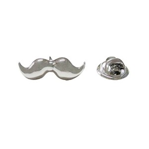 Silver Toned Hipster Mustacheラペルピン