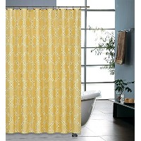 Regal Home Collections Printed Geo Lattice Shower Curtain, 70 by 72-Inch, Gold [並行輸入品]