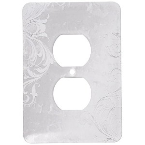 High Quality LLC lsp_40334_6 Design On Silver, 2 Plug Outlet Cover