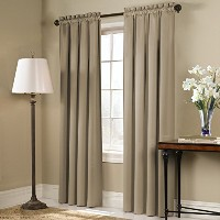 High Quality Blackstone Blackout Window Curtain Panel, 54 by 45-Inch, Taupe