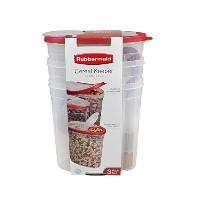 High Qualityツ1.5 gallon Cereal/Snack Storage Container (3 Pack), Red