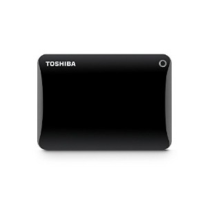 Toshiba Canvio Connect II 3TB Portable Hard Drive, Black (HDTC830XK3C1) [並行輸入品]