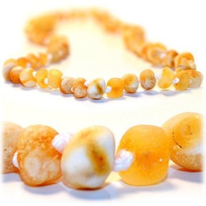 The Art of Cure Baltic Amber Teething Necklace for Baby (Raw Butter) - Anti-inflammatory by The Art...