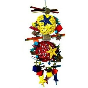 Galactic Crunch 20 Bird Toy by Fetch for Pets