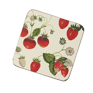 RHS Strawberry Coasters Pk4 by Ulster Weavers