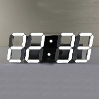 Pinty Large LED Digital Wall Clock - Time/Date/Temperature/Alarm/Countdown/Light - Modern Design ...