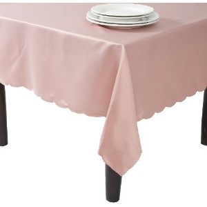 SARO LIFESTYLE LN201 Oblong Tablecloth Liners, 65-Inch by 162-Inch, Rose [並行輸入品]
