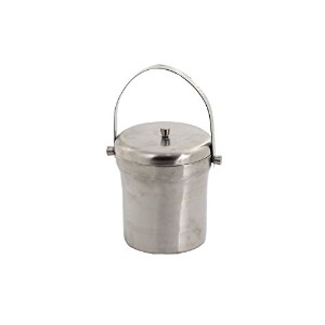 Essential D?cor Entrada Collection Stainless Steel Ice Bucket with Handle, 7 by 6-Inch [並行輸入品]