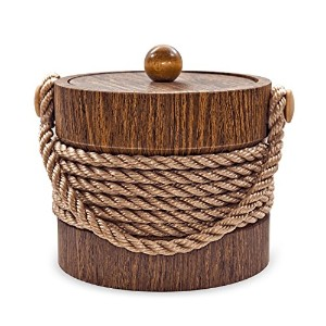Mr. Ice Bucket Ice Bucket, 3 Quart, Walnut Rope [並行輸入品]