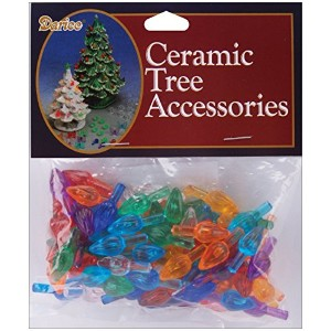 Ceramic Christmas Tree Bulb .625' 100/Pkg-Flame-Multi [並行輸入品]