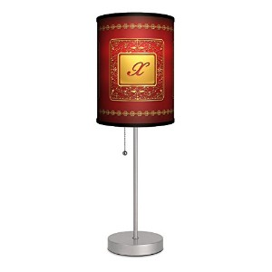 Monograms - Golden with Red Letter X Sport Silver Lamp [並行輸入品]
