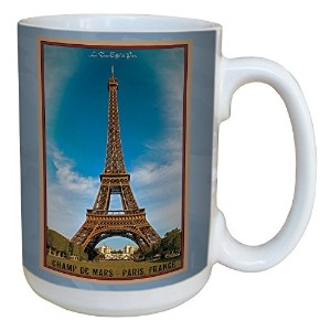 Tree-Free Greetings lm43096 Vintage Paris France Eiffel Tower by Nate Atwood Ceramic Mug with Full...