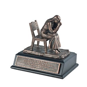 """Lighthouse Christian Products Moments of Faith Small Praying Woman Sculpture, 5 x 4 """" by Lighthouse..."""