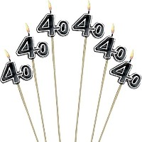 1 X 40th Birthday Candle - Cake Decoration Candle [並行輸入品]