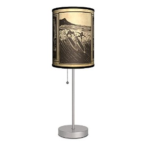 Sports - Surfing Etching Sport Silver Lamp [並行輸入品]