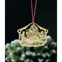 Biedermann & Sons D2008B Brass Commemorative Baby's First Christmas Ornament [並行輸入品]