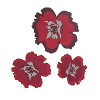 Fine Decor FDS1211 Flower Wall Decals, Red [並行輸入品]