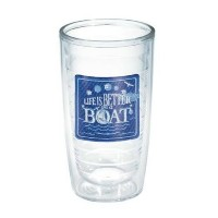 Tervis Tumbler, 16-Ounce, Life is Better on a Boat [並行輸入品]