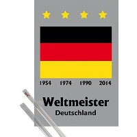 Poster + Hanger: Soccer Poster (36x24 inches) Deutschland Weltmeister 1954, 1974, 1990, 2014 and 1...