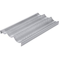 Chicago Metallic Commercial II Non-Stick Perforated Baguette Pan [並行輸入品]