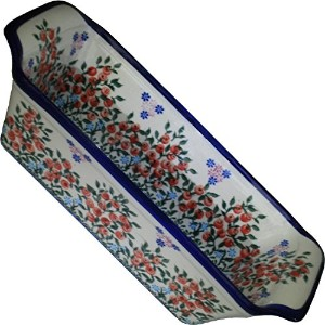 Polish Pottery Ceramika Boleslawiec 1207/282 Royal Blue Patterns 6-Cup Bread Meatloaf Baker, 12-3/4...