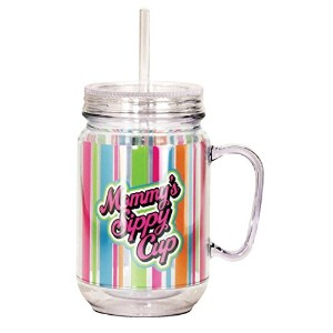 Spoontiques Mommy's Sippy Cup Mason Jar, Multi Colored [並行輸入品]