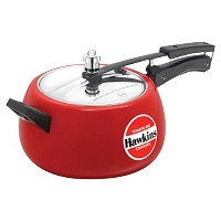 Hawkins Ceramic Coated Contura Pressure Cooker, 5 L, Red [並行輸入品]