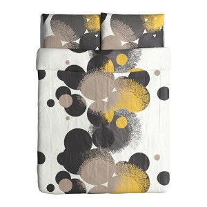 Ikea Bolltistel Duvet Cover and Pillowcases, Full/Queen, Yellow by Ikea [並行輸入品]