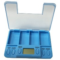Creative Motion 14104-3 Battery-Operated Multi-Alarm Pills Reminder, Blue [並行輸入品]