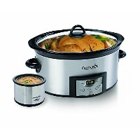 Crock-Pot SCCPVC605-S 6-Quart Countdown Oval Slow Cooker with Dipper, Stainless Steel [並行輸入品]