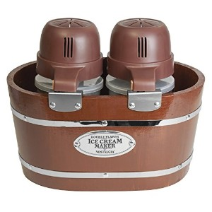 Nostalgia ICMW200DBL 4-Quart Electric Double Flavor Ice Cream Maker [並行輸入品]