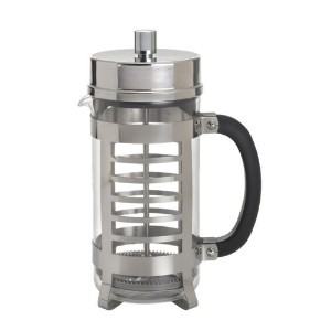 BonJour Coffee Glass and Stainless Steel French Press, 33.8-Ounce, Linear [並行輸入品]