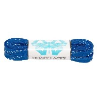 Blue 60 Inch Waxed Skate Lace - Derby Laces for Roller Derby, Hockey and Ice Skates, and Boots ...